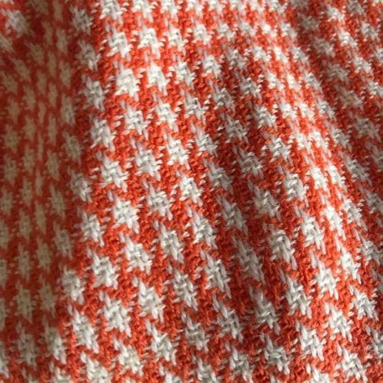 orange and white scarf