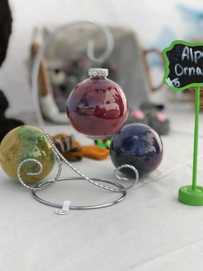 Alpaca fiber filled christmas ornaments